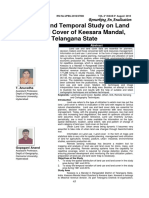 a spatial and temporal study on land use land cover of keesara mandal, telangana state