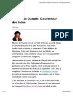 Nicolas de Ovando, Gouverneur Des Indes