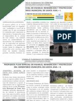 Propuesta urbanistica Propuesta Plan Especial de Manejo, Reinserción y Protección del Cementerio Municipal de Santa Ana