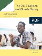 GLSEN 2017 National School Climate Survey