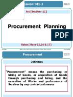 M1-2 Procurement Planning