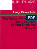 Pirandello, Luigi - Henry IV; The Rules of the Game; Right You Are! (if You Think So) (2015)