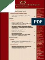 Inhaltsverzeichnis ZIS 10 2018