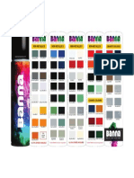 Banna Spray Paints - Shade Card