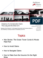 Anatomy of a Construction Claim - The Long and the Short of It Powerpoin...