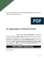 Recurso Especial Penal Criminal Furto Dosemetria Crime Bagatela Modelo 490 Pn161 1