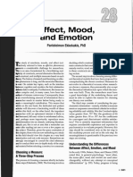 Affect, Mood and Emotion