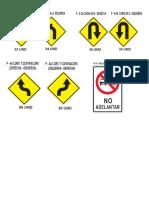 Señales Preventivas y Reglamentarias
