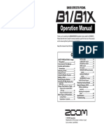 Zoom B1X Manual