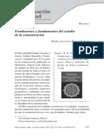 13. Fundaciones y fundamentos del estudio de la comunicación.