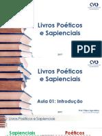 Aula01 Livros Poéticos Intro