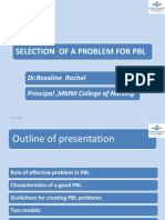 SELECTION  OF A PROBLEM FOR PBL