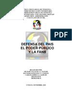 Defensa Del Poder Publico y La Fanb