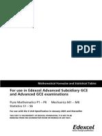 Edexcel Formula Booklet