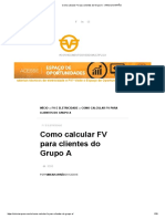 Como Calcular FV Para Clientes Do Grupo a - VINICIUS AYRÃO