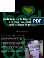 Víctor Vargas Irausquín - Participantes de Dale luz verde a tu idea comenzaron capacitación en línea