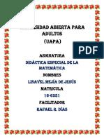Tarea1 de Didactica Especial de Las Matemáticas