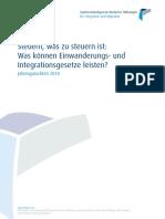 Einwanderungs- und Integrationsgesetze. Jahresgutachten 2018