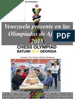 Armando Nerio Hanoi Guedez Rodríguez - Venezuela Presente en Las Olimpiadas de Ajedrez 2018