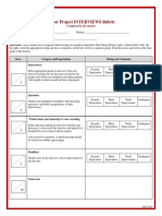 rubric for interviews