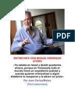 Entrevista Con Miguel Henrique Otero