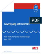 Power Quality and Harmonics, Walcott, Presentation, Aug'2015, 78pp