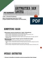 Aritmatika Dan Operasi Logika