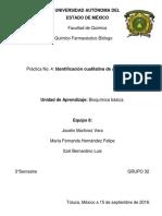 Identificaición Cualitativa de Aminoácidos