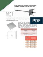 Especificaciones Para Fabricación de Nuevas Planchuelas de Cable Lok