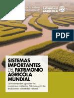 Sistemas Importantes Del Patrimonio Agrícola Mundial (SIPAM). La Biodiversidad Agrícola y Los Ecosistemas Resilientes. Prácticas Agrícolas Tradicionales e Identidad Cultural