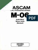 Tascam M-06 Supplement