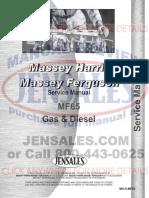 Massey Ferguson 65 Tractor Service Manual 1958 1964