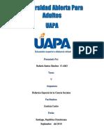 Tarea 5 de Didactica Especial de La Ciencias Sociales Rafaela