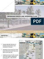 Crenshaw/LAX and Green Line operating plan