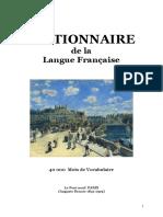 Langue Francaise DICTIONNAIRE de La Langue Francaise 40 000 Mots