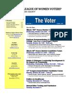 October Voter Newsletter