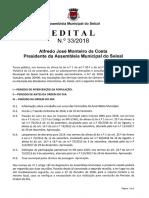 Ordem de Trabalhos e documentação - 6ª Sessão Exraordinária de 2018 da Assembleia Municipal do Seixal