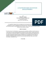 La Nutrition Dans Les Pays en Développement