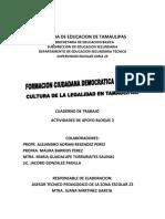 Cuaderno de Trabajo Del Bloque 2 Cultura de La Legalidad