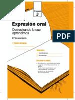 Cuadernillo Proceso 3 Expresión Oral Segundo Grado