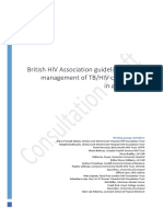 BHIVA TB HIV Co Infection Guidelines Consultation