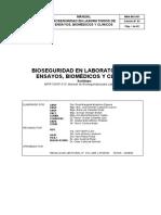 Bioseguridad en Laboratorios de Ensayo, Biomédicos y Clínicos ' Ins