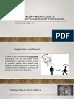 Comunicación y Modificación de Actitudes y Comunicación y