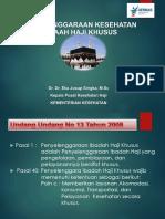 Penyelenggaraan Kesehatan Jemaah Haji Khusus