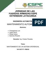 mantenimiento diferencial