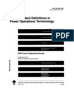 IEEE 858-1993 Definitions in Power Operation