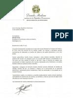 Danilo Medina se solidariza con el presidente de los Estados Unidos, Donald Trump, por los daños ocasionados por el huracán Michael
