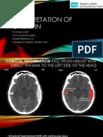 BT Brain Interpretation and Cases for Finals