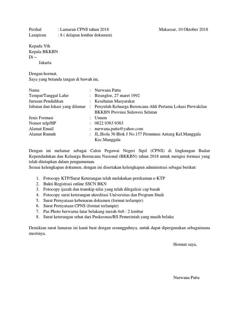 26++ Contoh surat pernyataan format bkkbn 2021 terbaru yang baik dan benar