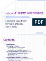 First Java Program With NetBeans